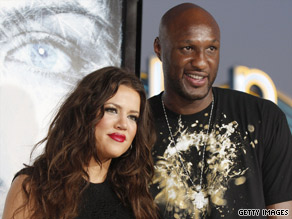 Khloe Kardashian and Lamar Odom Pictured