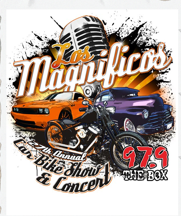 Los Magnificos Car, Bike Show and Concert with Party Boyz